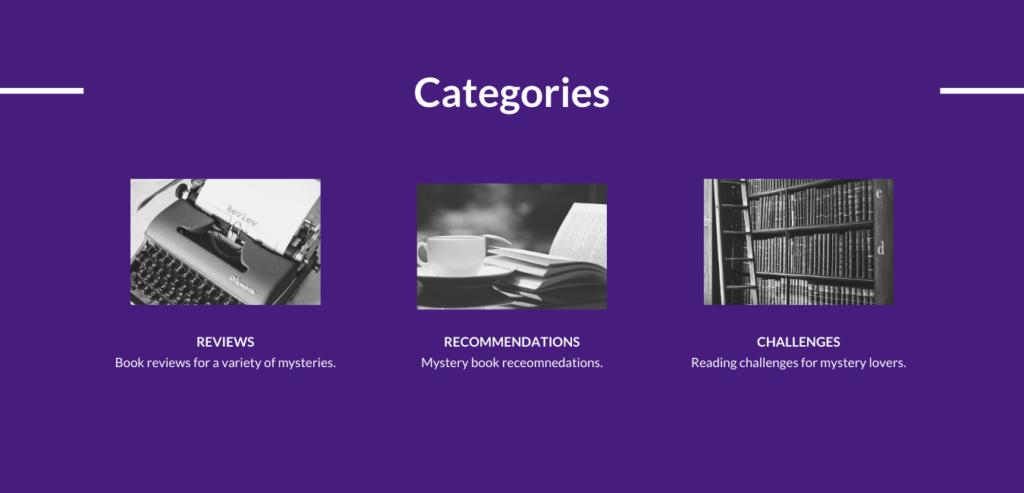 Categories Header